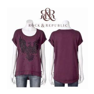 Rock & Republic® Graphic Glitter Eagle Top